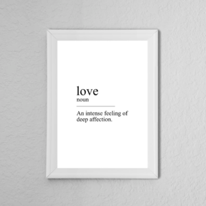 'Love' Definition Quote Poster Print