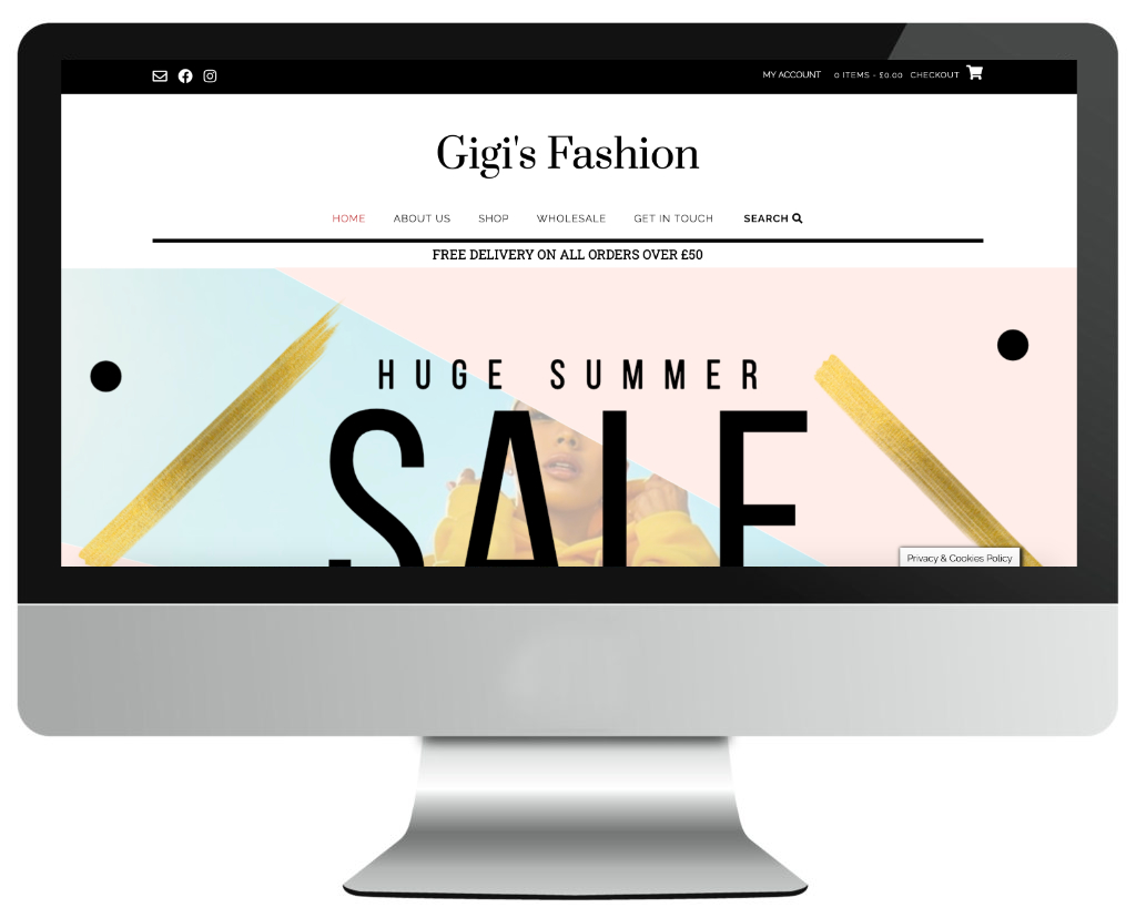 Fashion e-commerce web design in Nottingham