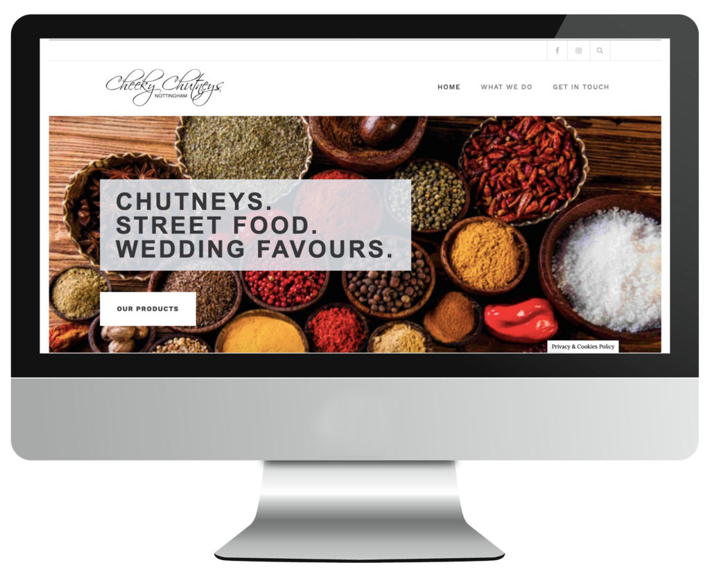 Cheeky Chutneys food web design in Nottingham