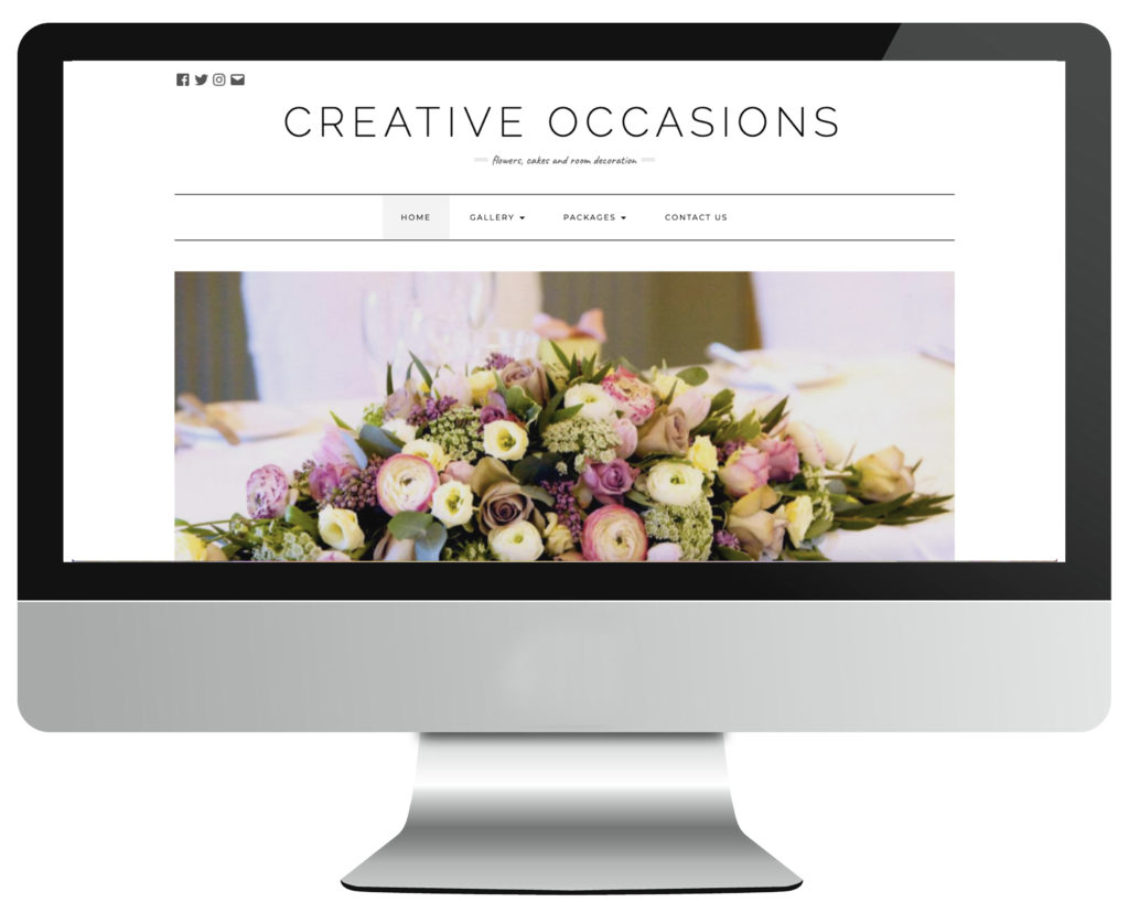 Creative occasions florist web design in Nottingham